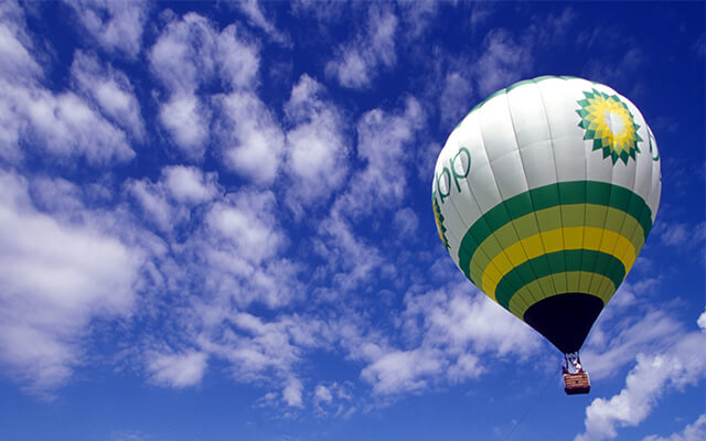 Alpenballonfahrt mit dem BP-Heißluftballon -